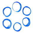 Set of blue acrylic round circles vector image vector image