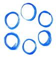 Set of blue acrylic round circles vector image