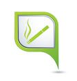 smoking GREEN pointer vector image vector image