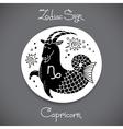 Capricorn zodiac sign of horoscope circle emblem vector image