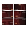 corporate brown business card set vector image