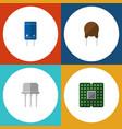 flat icon electronics set of resist unit triode vector image
