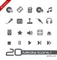 Media Entertainment Basics Series vector image