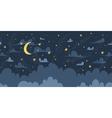 Night sky seamless pattern vector image