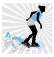 roller-skate vector image