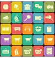 Set of shopping icons in flat design On vector image