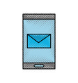 smartphone email online app message chat icon vector image