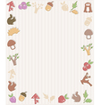 Frame with woodland icons vector image