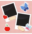 Photos stickers tags with tape vector image