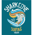 Shark cove surfing team vector image