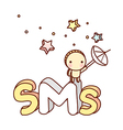 The sms icon vector image vector image