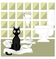 Naughty cat vector image