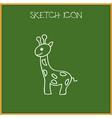 of zoology symbol on giraffe vector image