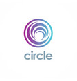 round circle logo vector image