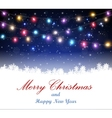 Christmas light background with snowflake vector image