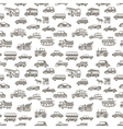 seamless car pattern vector image vector image