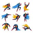 Superman Poses Set vector image vector image