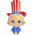 beautiful character to the President s Day vector image