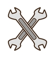 cartoon steel spanner tool repair vector image