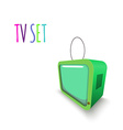 Colorful Retro Tvset isolated vector image