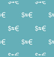 currency exchange pattern seamless blue vector image