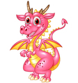 Happy dragon isolated on transparent background vector image