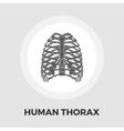 Human thorax flat icon vector image