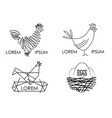 set of logos of a poultry farm vector image