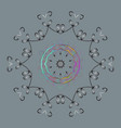 snowflakes background winter card merry christmas vector image