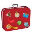 suitcase baggage vector image
