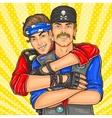 Homosexual couple rockers vector image