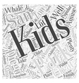 San Diego For Kids Word Cloud Concept vector image