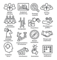 Business management icons in line style Pack 27 vector image