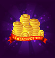 jackpot winner background golden coins treasure vector image