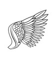 wing feathers bird freedom fly image vector image
