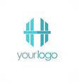 letter h business logo vector image