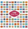 Set of 100 colourful vintage frame vector image