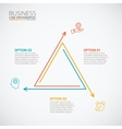 Thin line flat triangle for infographic vector image