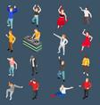 dancing people isometric set vector image