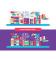 data analytics design flat vector image