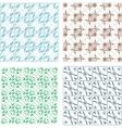 Elegant seamless pattern set pattern fills vector image