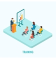Isometric presentation training concept vector image