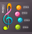 music abstract infographics vector image