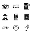 Scout icons set simple style vector image