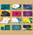 set of corporate business card bundle vector image