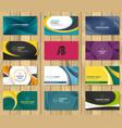 set of corporate business card bundle vector image