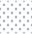 Skull pattern cartoon style vector image