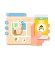 Taxi application concept vector image