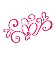 valentines day of flourish calligraphy vector image