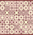 gorgeous seamless pattern white old pink moroccan vector image